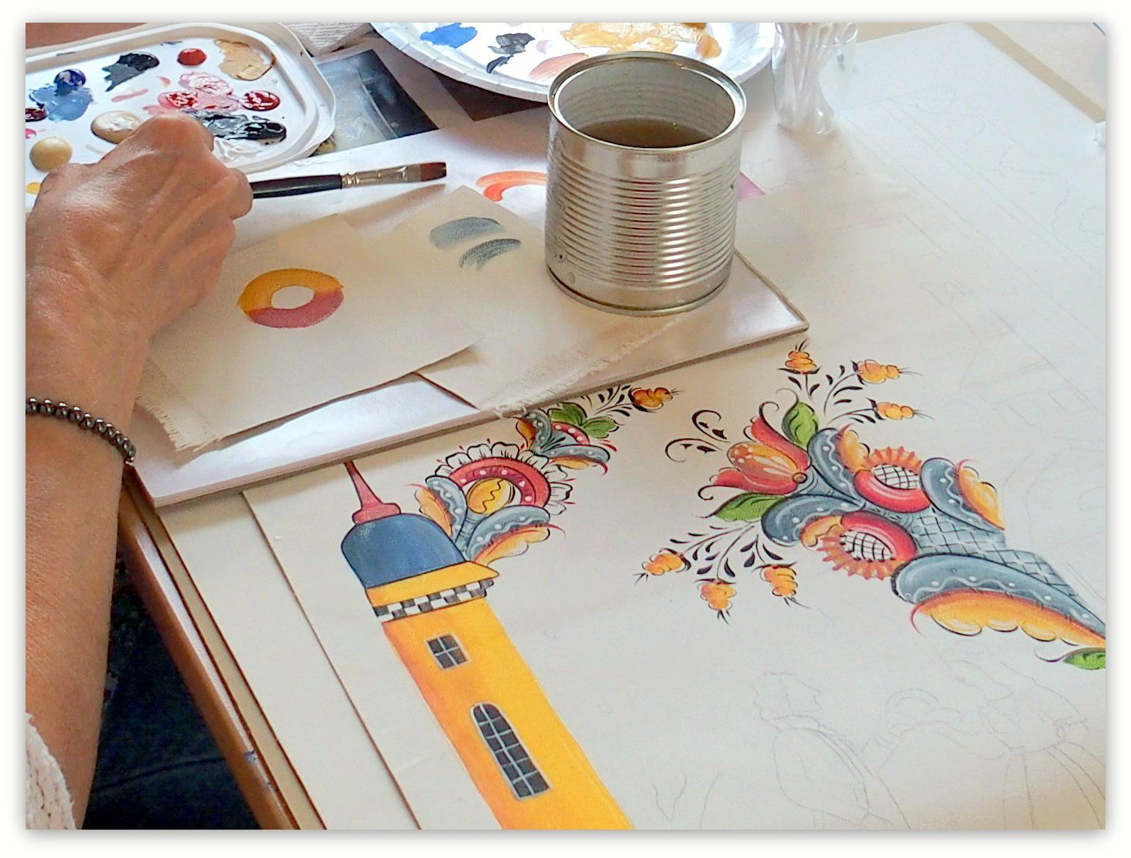 Dala Folkart painting class